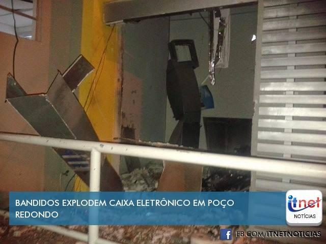 MAIS UM CAIXA ELETRÔNICO DO BANCO DO BRASIL É EXPLODIDO
