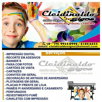 CLEIDINALDO SIGNS COMUNICAÇÃO VISUAL
