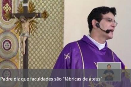 """PADRE REGINALDO MANZOTTI DIZ QUE UNIVERSIDADES SÃO """"FÁBRICAS DE ATEUS"""""""