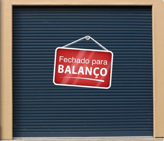 MENSAGEM DE REFLEXÃO: FECHADO PARA BALANÇO