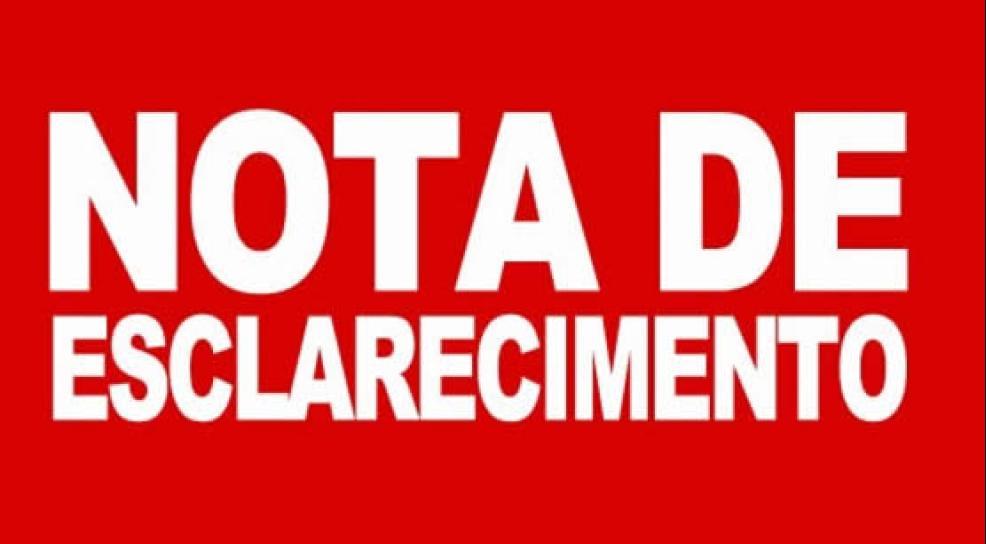 CALCINHA PRETA: NOTA DE ESCLARECIMENTO É EMITIDA