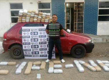 POLÍCIA APREENDE EM PARIPIRANGA (BA), CARGA DE 100 KG DE MACONHA; DROGA IRIA PARA ARACAJU (SE)