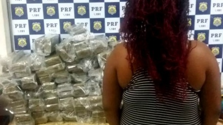 POLÍCIA RODOVIÁRIA FEDERAL DA BAHIA PRENDE SERGIPANA COM 68 KG DE MACONHA EM ÔNIBUS