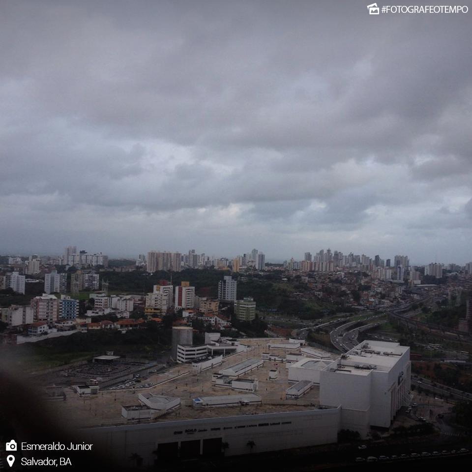 PANCADAS DE CHUVA PODEM CONTINUAR OCORRENDO EM SERGIPE; TEMPO INSTÁVEL NO LITORAL DA BAHIA