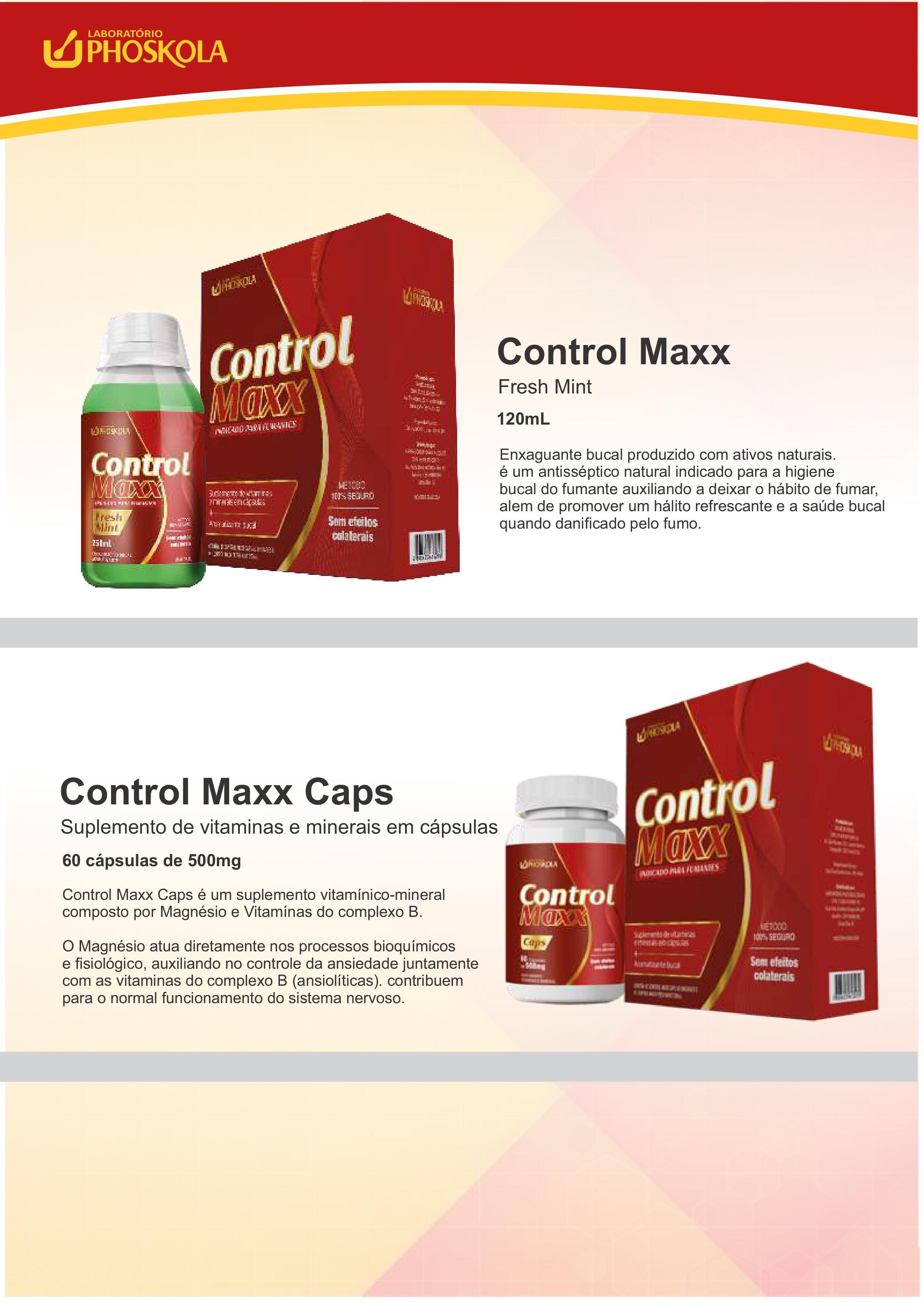 PARE DE FUMAR COM CONTROL MAXX! ANTISSÉPTICO NATURAL DO PHOSKOLA
