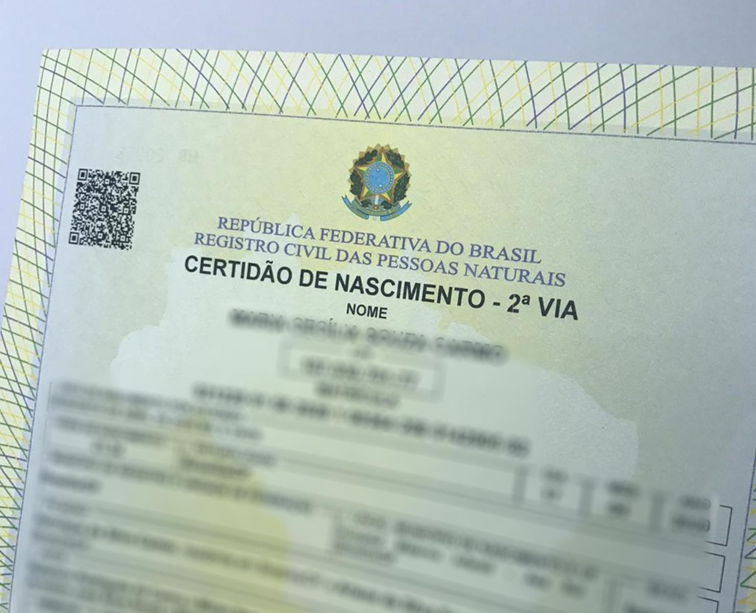 CERTIDÃO DE NASCIMENTO: DOCUMENTO SERÁ FEITO EM HOSPITAL