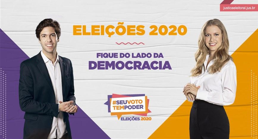 ELEIÇÕES 2020: FIQUE NO LADO DA DEMOCRACIA