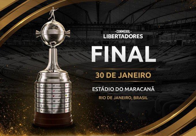 LIBERTADORES 2020: FINAL SERÁ NO DIA 30 DE JANEIRO DE 2021, NO MARACANÃ