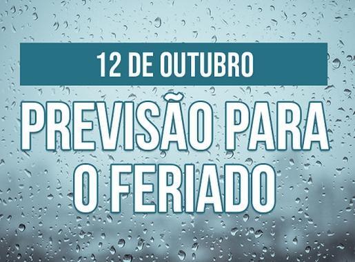 NORDESTE: PREVISÃO DO TEMPO PARA O FERIADO DO DIA 12 DE OUTUBRO